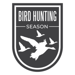 Bird hunting season badge