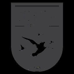 Distintivo de temporada de caça de pássaros