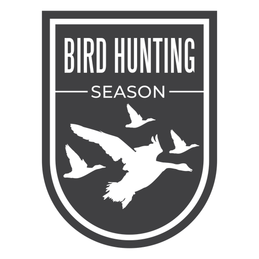 Bird hunting season badge Transparent PNG