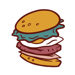 Burger hamburger colorful illustration
