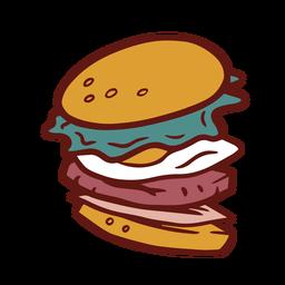 Ilustración colorida de hamburguesa hamburguesa