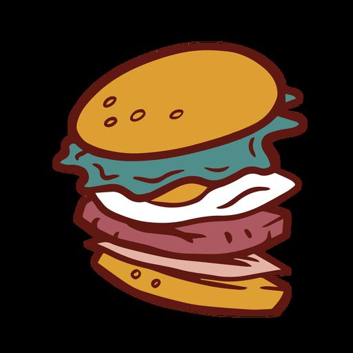 Burger hamburger colorful illustration