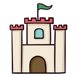 Castle colorful icon stroke