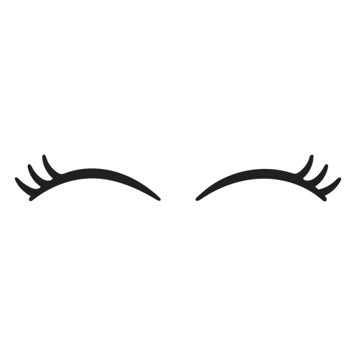 Cat eye lashes stroke Transparent PNG