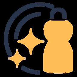 Icono de lavado limpio plato colorido