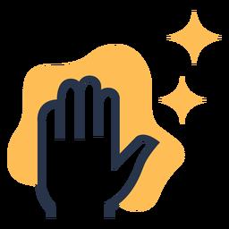 Icono colorido de paño de mano limpia