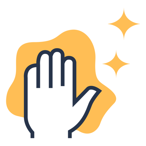Clean hand cloth colorful icon Transparent PNG