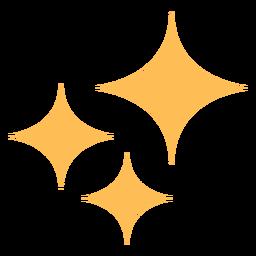 Icono de colores de brillo limpio estrellas