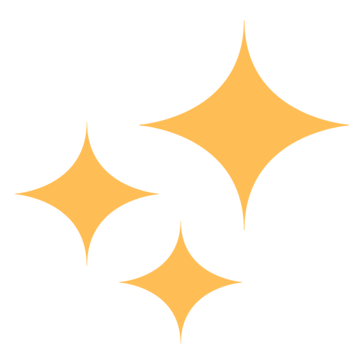 Clean shine stars colorful icon