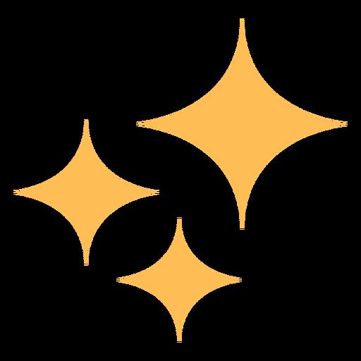 Icono colorido de estrellas de brillo limpio