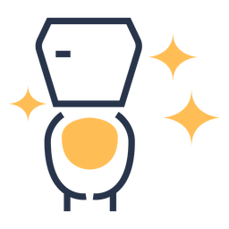 Icono colorido baño limpio