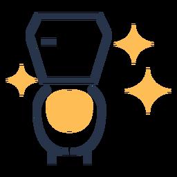 Icono colorido de baño limpio