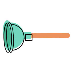 Clean toilet plunger colorful icon