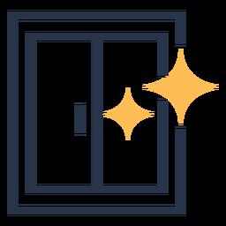 Limpiar ventanas brillan estrellas colorido icono