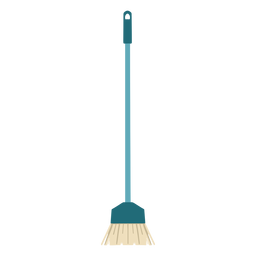 Cleaning broom brush flat