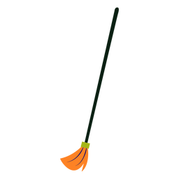 Cleaning broom colorful flat
