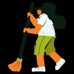 Reinigung Charakter Besen Illustration