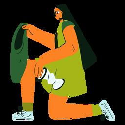 Ilustración de reciclaje de personaje de limpieza