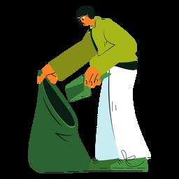 Reinigung Charakter Müllsack Illustration