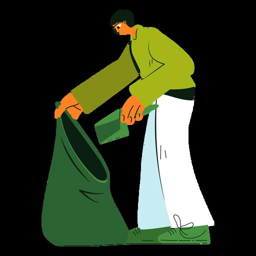 Cleaning character trash bag illustration Transparent PNG
