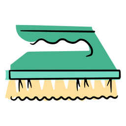 Cleaning hand brush icon