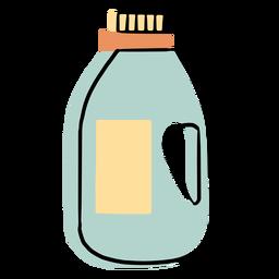 Botella de líquido de limpieza colorido icono