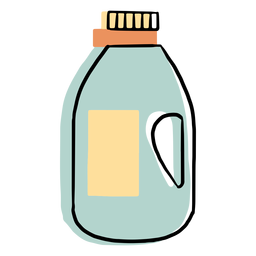 Cleaning liquid bottle colorful icon