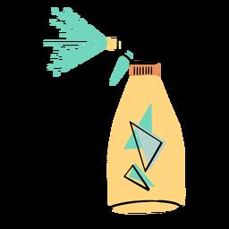 Icono colorido de spray de limpieza