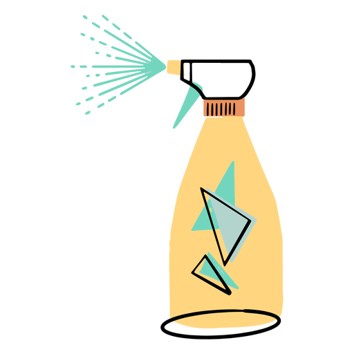 Cleaning spray colorful icon