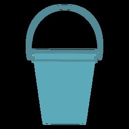 Cubo de agua de limpieza plano