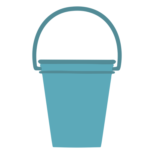 Cleaning water bucket flat Transparent PNG