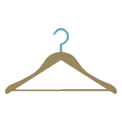 Clothes hanger colorful flat Transparent PNG
