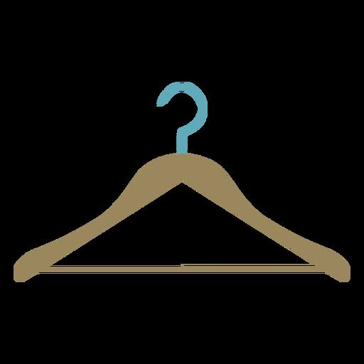 Colgador de ropa colorido plano