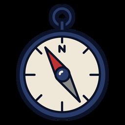 Icono de brújula trazo colorido