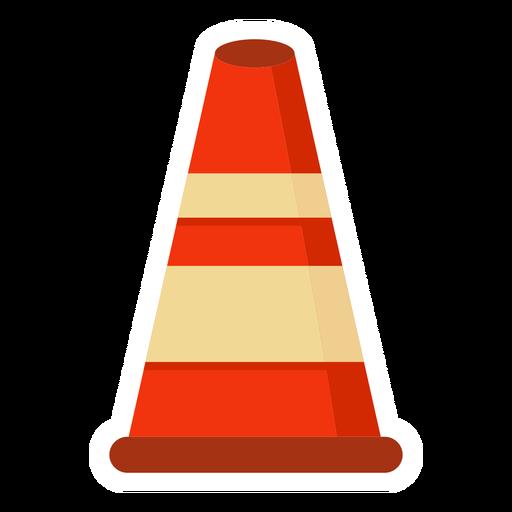 Bloque de carretera cono colorido plano