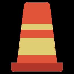 Icono colorido de marcador de calle de cono