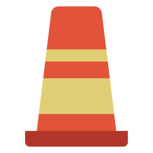 Cone street marker colorful icon Transparent PNG