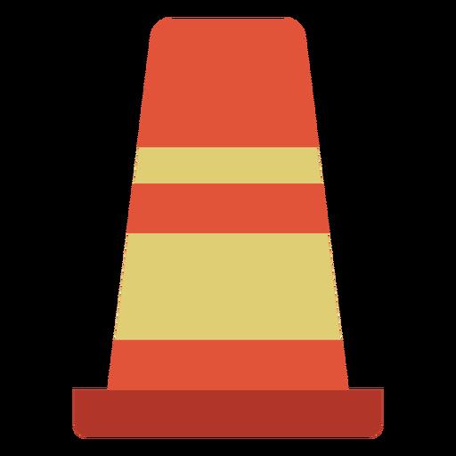 Cone street marker colorful icon