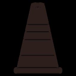 Cone street marker flat silhouette