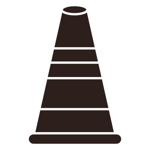Cone street marker flat silhouette Transparent PNG