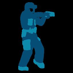 Cop police officer handgun illustration