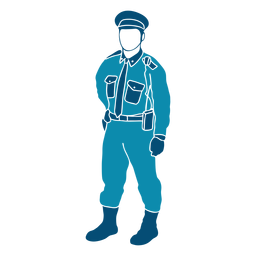Cop policeman law illustration