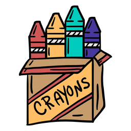 Crayon pack colorful illustration