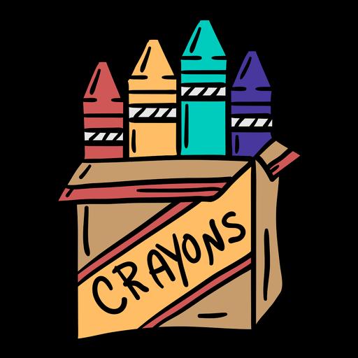 Ilustração colorida do pacote de giz de cera