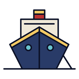 Cruiser ship colorful icon stroke