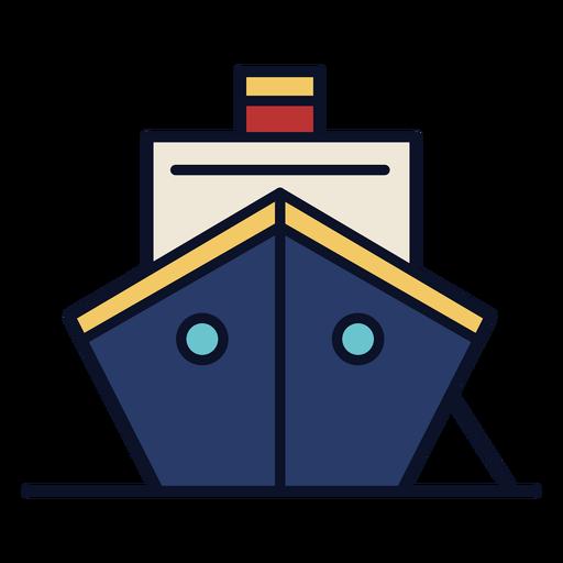 Cruiser ship colorful icon stroke