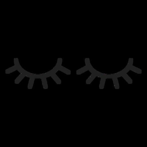 Doll eye lashes stroke