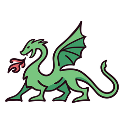 Dragon colorful icon stroke