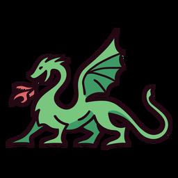 Golpe de icono colorido dragón