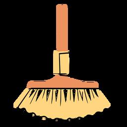 Icono colorido de escoba de cepillo de polvo